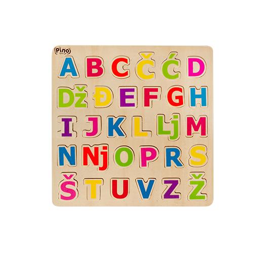 pino letter puzzle latin alphabet pino toys